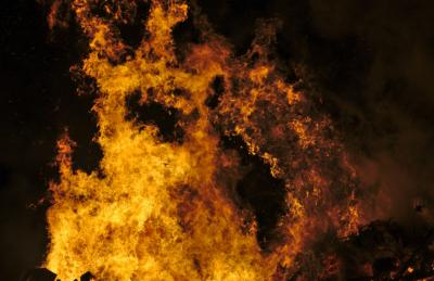 Ночью в Кузбассе неизвестные спалили цветочный павильон