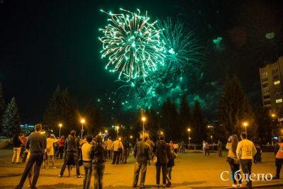 В Кемерове праздничный салют на День шахтёра сняли с высоты птичьего полёта
