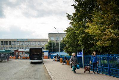 До конца лета в зоне высадки кемеровского автовокзала будет проводиться ремонт