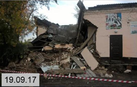 В Белове обрушилось здание магазина канцтоваров
