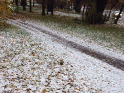 Зима близко: в Прокопьевске выпал первый снег