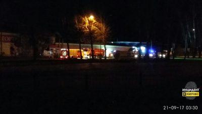 Ночью в Рудничном районе Кемерова горела кондитерская