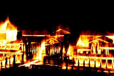 В Кузбассе во время пожара в частном доме погиб мужчина