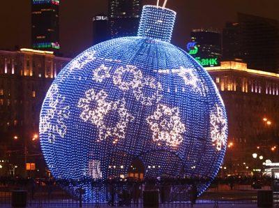 В Москве установят самый большой в мире ёлочный шар