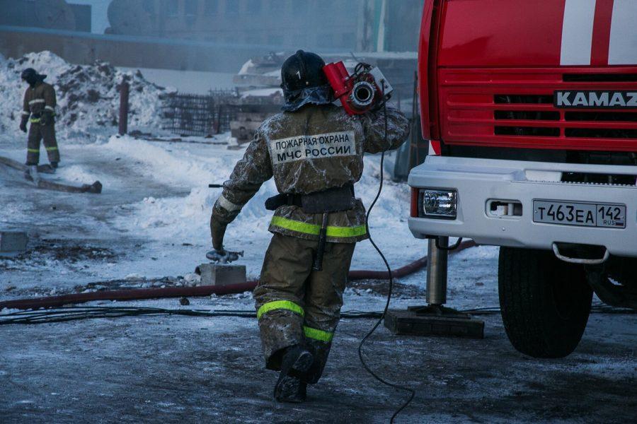 В Новокузнецке сгорел автобус Yutong
