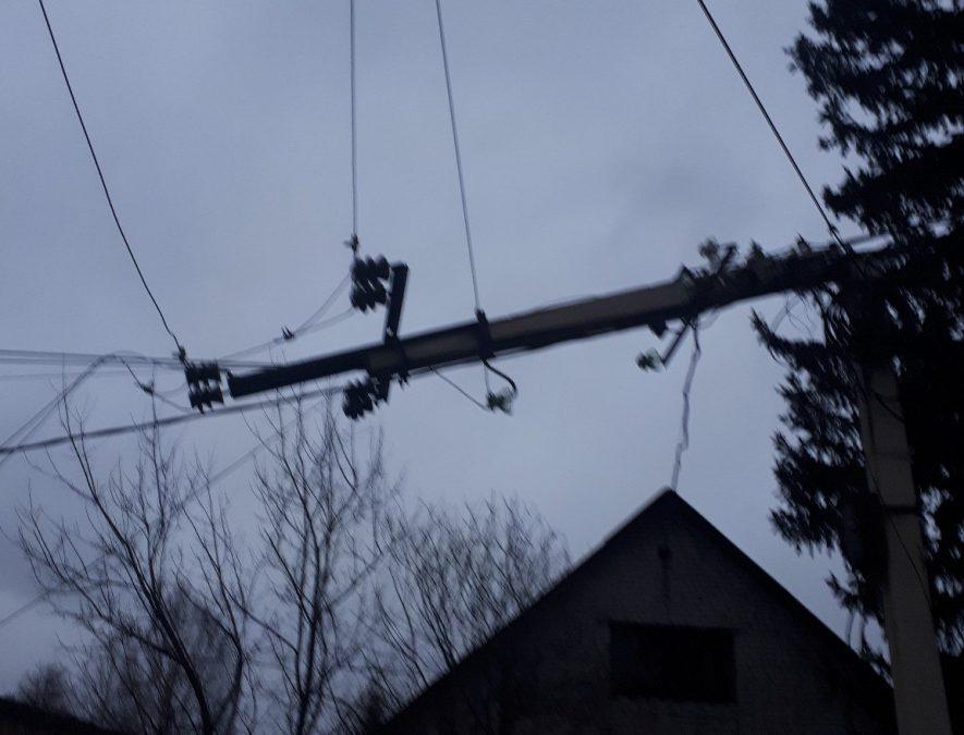 ВКемеровской области восстановили нарушенное из-за ветра электроснабжение