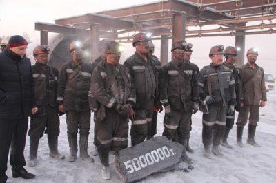 На шахте «Талдинская-Западная 1» АО «СУЭК-Кузбасс» установили новый рекорд добычи