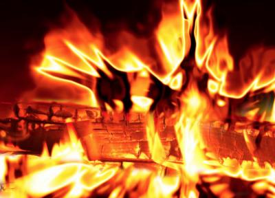В Кузбассе горел частный жилой дом