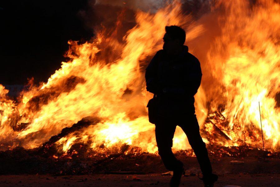 Вжилом доме Центрального района произошёл пожар