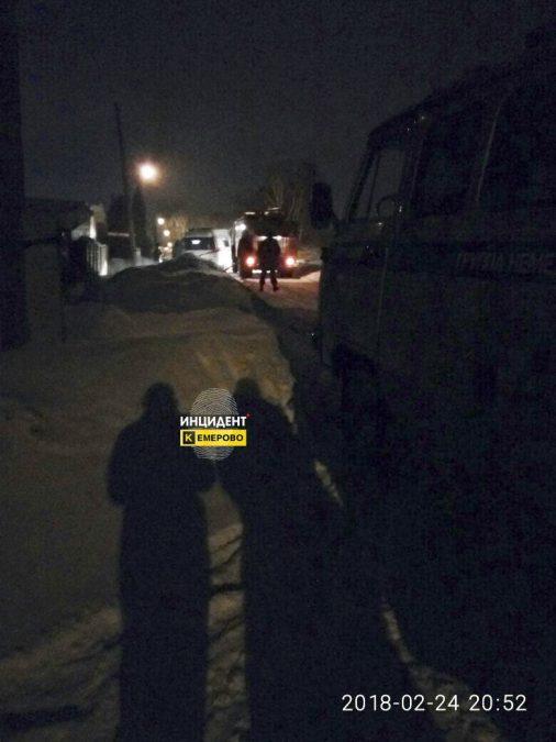 В Кемерове горела частная баня, один человек пострадал