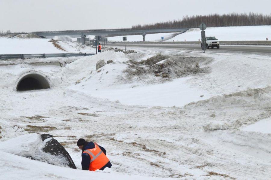 В Кузбассе на федеральных трассах начата подготовка к паводку