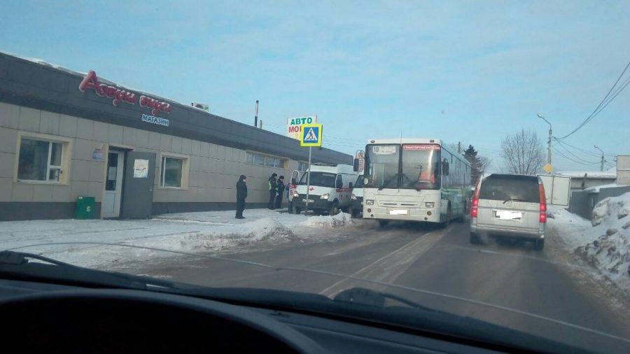 В Заводском районе Кемерова автобус сбил пешехода
