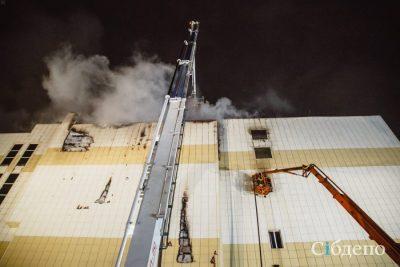 Опубликовано первое видео изнутри сгоревшего ТРК «Зимняя вишня» в Кемерове