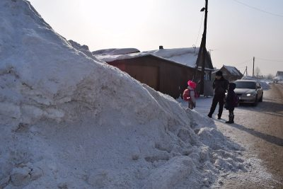 Госавтоинспекция ликвидировала опасную горку в Новокузнецком районе