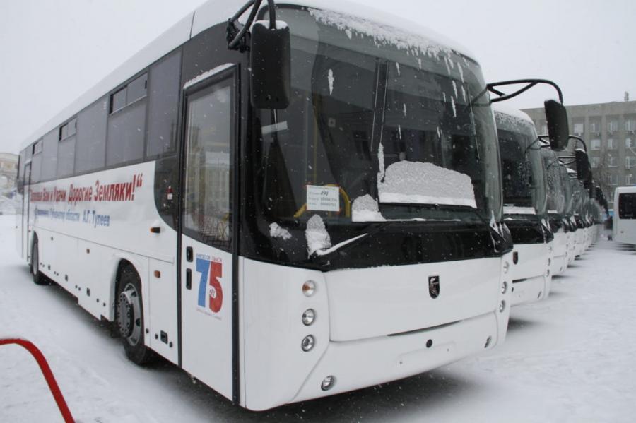 Транспортный парк Кузбасса пополнили 28 новыми автобусами