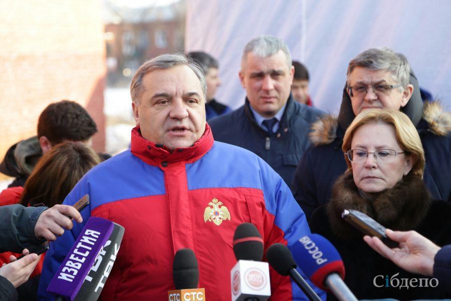 Руководитель МЧС опроверг слухи осотнях жертв пожара вкемеровскомТЦ