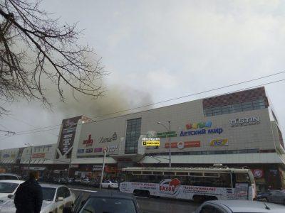 В кемеровском ТЦ «Зимняя вишня» произошёл пожар