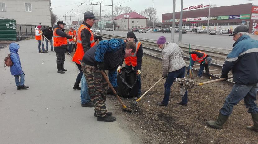 В Кемерове в рамках акции «Зелёная весна – 2018» прошёл общегородской субботник