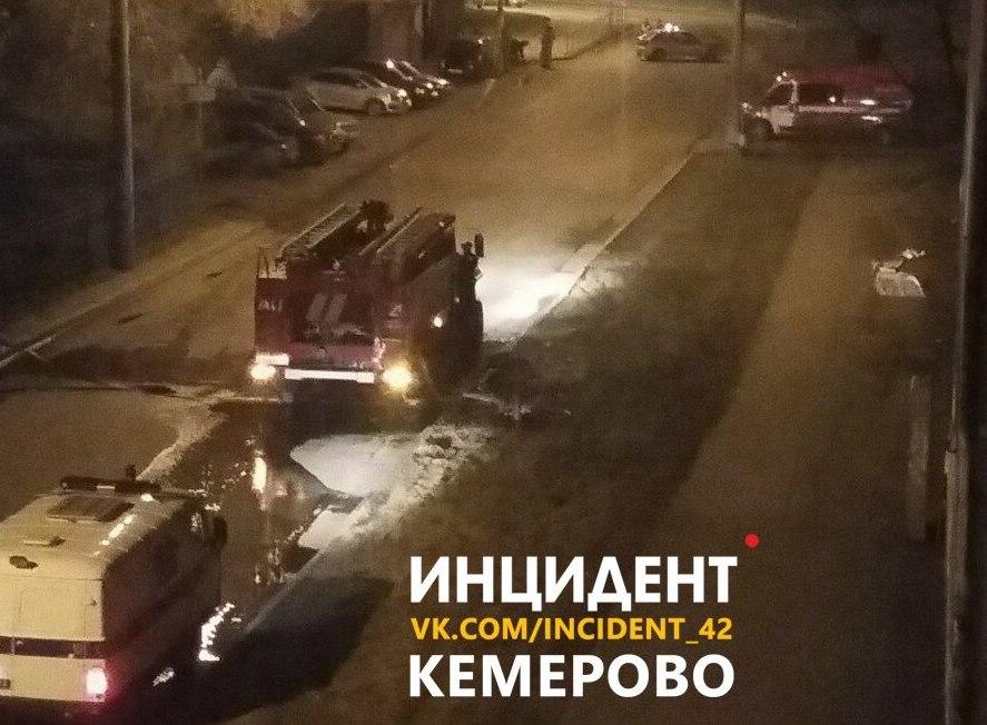 Ночью в Кемерове горело здание «Ботанического сада»