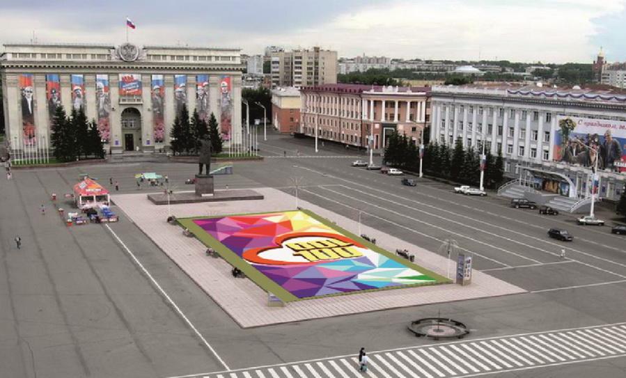 В Кемерове на площади Советов появится клумба в виде цифры 100
