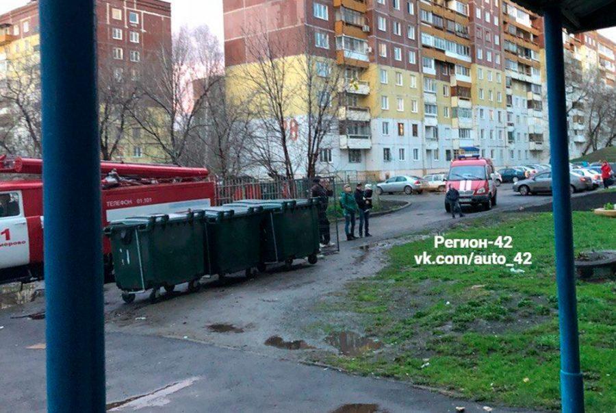 Фото: в Кемерове на Ленинградском горело общежитие