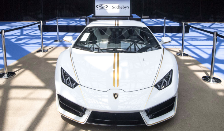Lamborghini Папы Римского продали на аукционе в Монако за 715 тысяч евро