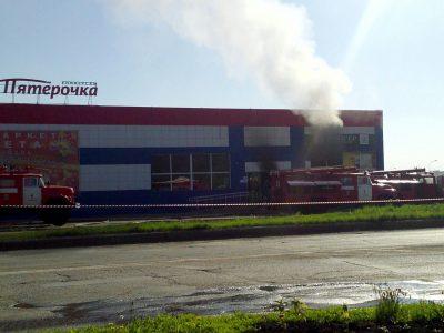 МЧС: общая площадь пожара в крупном супермаркете в Юрге составила 70 «квадратов»