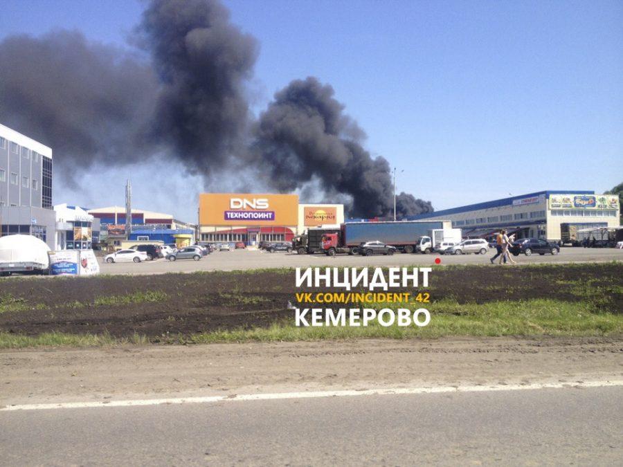 Площадь пожара в Ленинском районе Кемерова составила 1 000 квадратных метров