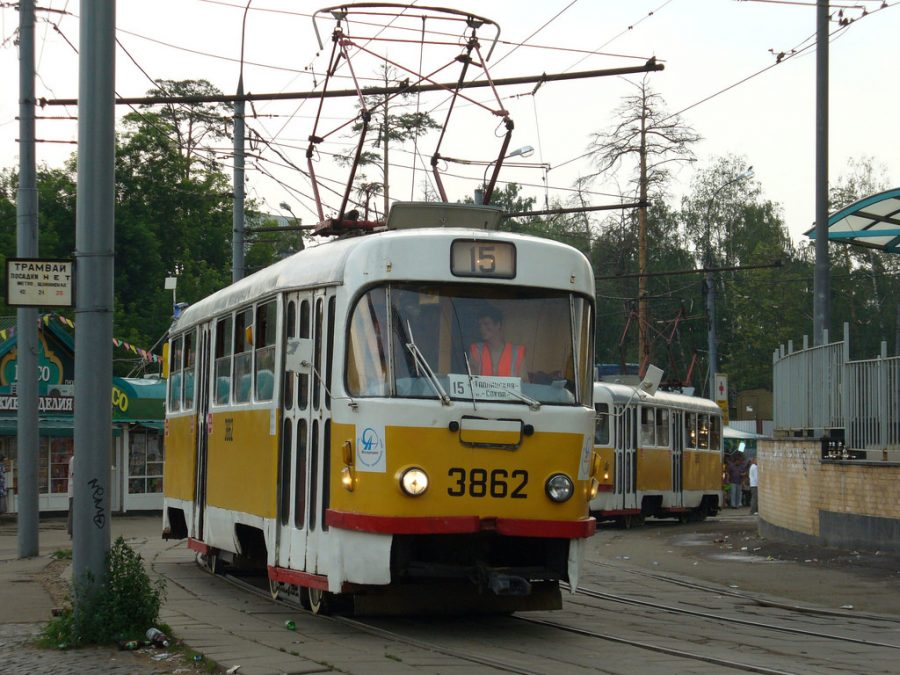 В Прокопьевске горел трамвай