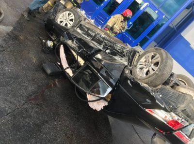 В Прокопьевске перевернулась Honda, погиб один человек