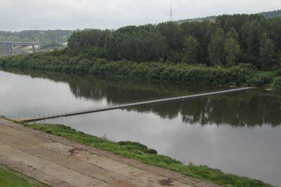 Специалисты завершили монтаж понтонного моста к Кемеровскому острову