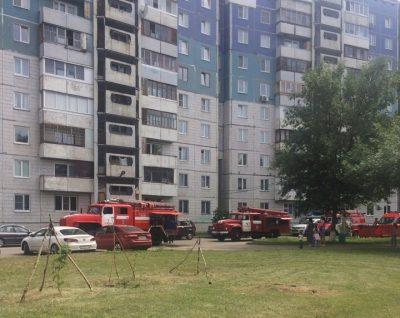 В Кемерове на Ленина горела десятиэтажка, пожар сняли на видео