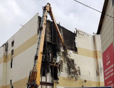 В Кемерове приступили к сносу основного здания ТРК «Зимняя вишня»
