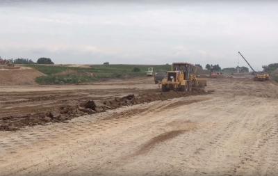 Строительные работы на последнем участке кузбасского автобана сняли на видео