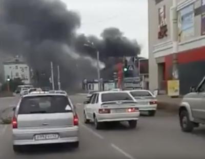 Площадь пожара на территории рынка в Ленинском-Кузнецком составила 60 «квадратов»