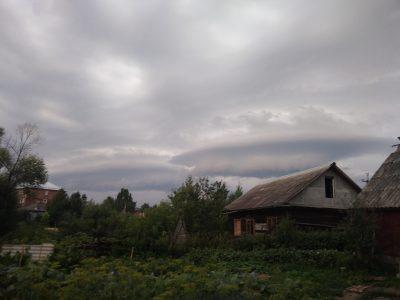 Жители Кузбасса сфотографировали облака в форме НЛО
