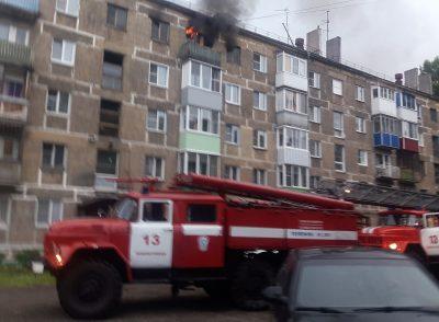 В Новокузнецке из-за неосторожности при курении загорелась многоэтажка