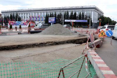 В Кемерове возле мэрии вновь изменят схему движения