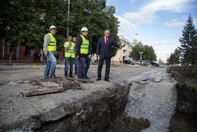 Власти рассказали о ходе капремонта Советского проспекта в Кемерове