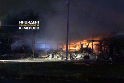 В МЧС назвали причину пожара на площади 200 «квадратов» в Кемеровском районе