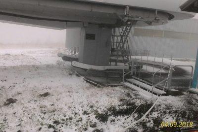 В Шерегеше выпал первый снег