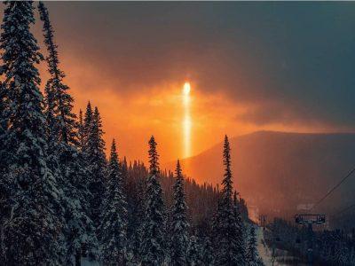 Око Саурона: в Шерегеше сняли на фото необычный закат
