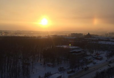 Необычное природное явление в небе над Кемеровом сняли на фото