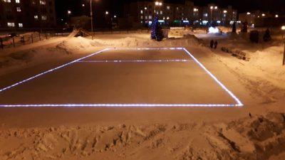 Видео: в Кемерове впервые появится каток со светящимся льдом