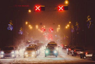 В центре Кемерова отключат реверсивные светофоры