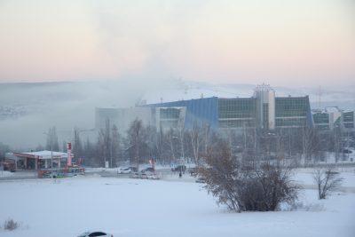 Кемеровскую «Лапландию» накрыло странное зелёное облако