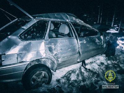 Видео: под Петербургом Госавтоинспекция ловила пьяного человека из Кемерова