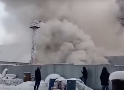 Видео: в Соликамске несколько часов горит шахта, под землёй девять горняков