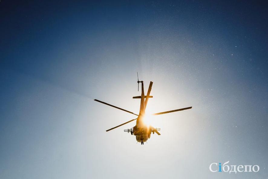 Видео: над Кемеровом снова кружил вертолёт
