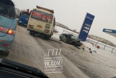 В ДТП с автобусом в Новокузнецке пострадали пятеро
